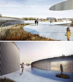 """Human Body Museum: Undulating Design Wins Competition. """"The museum's roof functions as an ergonomic garden – a dynamic landscape of vegetal and mineral surfaces that allow the park's visitors to explore and express their bodies in various ways – from contemplation to the performance – from relaxing to exercising – from the soothing to the challenging."""""""