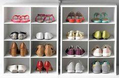 Falta espaço nos armários ou no closet para colocar os sapatos? Nós mostramos 11 maneiras diferentes e criativas, com DIYs e móveis prontos, que organizarão seus pares