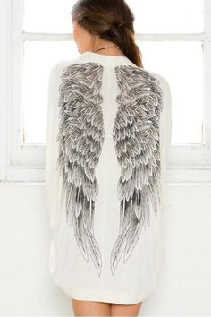 Additional tips Ayliss Angel Wings Print Back Batwing Oversized Kimono Cardigan Cover Up Blouse for Christmas Gifts Idea Online Shopping Kimono Coat, Kimono Cardigan, Blouse, Cardigan Rose, White Cardigan, Open Cardigan, Sexy White Dress, Estilo Fashion, Indie Fashion