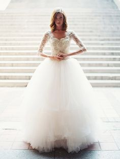 Ball Gown Sweetheart Tulle Lace Wedding Dress