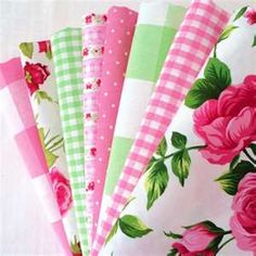 Pink and green fabric - so many many things to do with fabrics like these