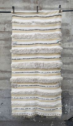 'White Stripes' Moroccan Wedding Blanket