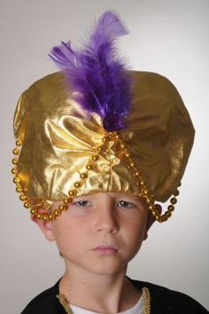 Colorful wise man magi nativity costume headpiece crown with gold how to make a turban for a costume solutioingenieria Choice Image