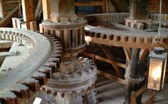 how to make a wooden gear Wooden Windmill, Wooden Gears, Malm, Interior And Exterior, Dining Table, Rustic, Google Search, Water Wheels, Wind Mills