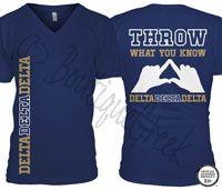 Tri Delta Throw Tee -ΔΔΔ Collection. Design Exclusive to BoutiqueGreek.com