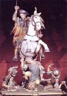 La statue du Matamore que l'on ne voit plus dans la cathédrale de Compostelle (cliquer pour en savoir plus)