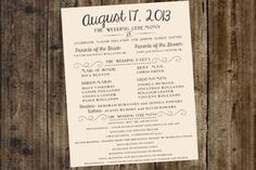 Free Printable Wedding Programs | ... Free Wedding Program Templates , Free Downloadable Wedding Program