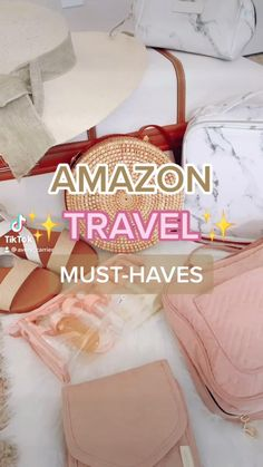 Amazon Hacks, Amazon Gadgets, Cool Gadgets To Buy, Travel Bag Essentials, Amazon Essentials, Packing Tips For Travel, Suitcase Packing, Packing Ideas, Makeup Essentials
