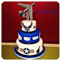 Air force retirement cake my creations pinterest air for Air force decoration