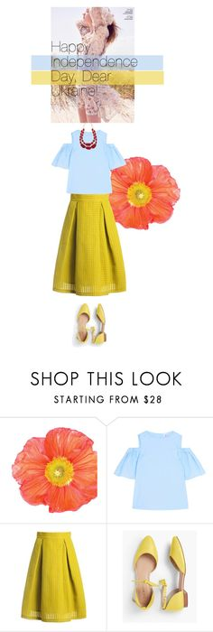 """""""Happy Independence Day, Ukraine"""" by olesyabond ❤ liked on Polyvore featuring Iris & Ink, Sans Souci, Talbots and M&Co"""