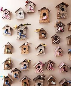 Caitlin Creer Interiors: Bohemian Bird Houses  Easy to make with a great tutorial!!!!