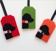 Keçeden Köpek Figürlü Şirin Valiz Etiketleri