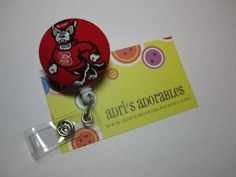 Retractable Badge Reel  NC State Wolf Pack  by adrisadorables