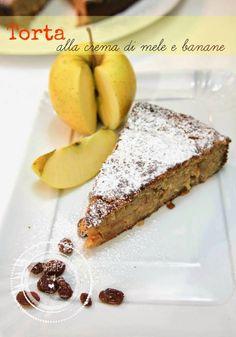 cucchiaio e mattarello: torta alla crema di mele e banane