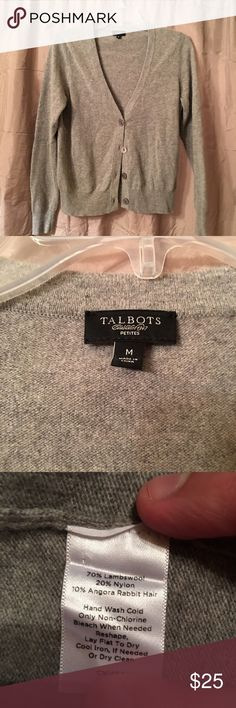 Talbots Grey Cardigan Great condition Talbots grey cardigan Talbots Sweaters