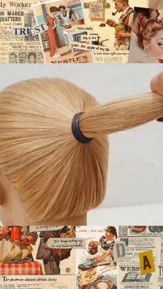 Hairdo For Long Hair, Bun Hairstyles For Long Hair, Updo Hairstyles Tutorials, Hair Updo, Medium Hair Styles, Curly Hair Styles, Glamour Hair, Hair Upstyles, Hair Videos