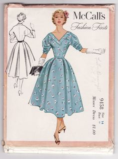 McCall's Fashion Firsts 9458 (1953)