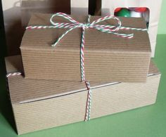 Kraft Brown Candy or Cookie Boxes  Set of 12 by BakersBlingShop, $8.95