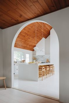 Tall arched entrance to a kitchen with slanted ceiling in Grand Rapids, Michigan [1200x1774]: RoomPorn Archways In Homes, Best Kitchen Design, Arch Doorway, Entrance, Kitchen Planner, Slanted Ceiling, Vintage Design, Home Kitchens, Kitchen Remodel