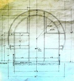 Plans for the framing of the back wall.