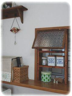 *~  キッチンカウンターに窓付き棚をつける  ~* DIY - hapi*hapi handmade
