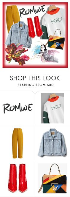 """crazy retro 🍁🍁🍁🍁"" by besio ❤ liked on Polyvore featuring Chloé, Gap, Gianvito Rossi and Justine Clenquet"