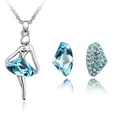 2017 Fashion Jewelry Sets for Women Stud Earrings Necklace sets Crystal from Swarovski Trendy Bijouterie 2818