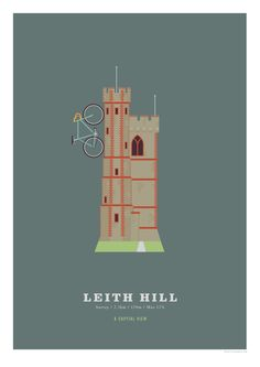 Leith Hill A3 Print Cycling Poster