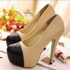 Ivory and Black Shoes