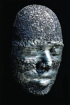 Dale Dunning.  Masks and Heads Made from Moveable Type and Steel Hardware.  Beautiful.