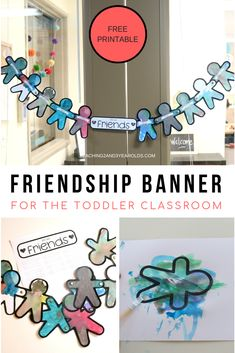 How to Create a Banner for a Toddler Friendship Activity – Friendship activities preschool - Modern Friendship Theme Preschool, Teaching Friendship, Friendship Crafts, Friendship Lessons, Friendship For Kids, Preschool Family Theme, Friend Activities, Kindness Activities, Social Skills Activities