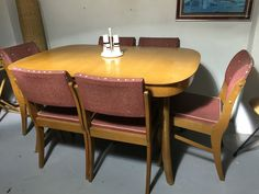 Vintage 1958 CHISWELL Extension DINING TABLE & 6 CHAIRS Parker Mid Century