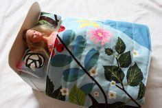 Barbie bed, comforter and pillow tutorials.  Lots of Barbie clothing here, too!