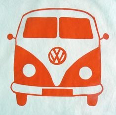 Freezer Paper Stencils: VW Bus Pillowcases