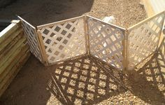 """This is fold-up moveable fence for the back yard to keep the """"babies"""" out of trouble."""