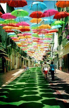 Chemin de parapluies
