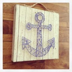 Anchors Away String Art by Sarah Owens for #CraftWarehouse