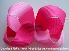 Two Tone Twisted Boutique Bow Tutorial photo TwoColor.jpg