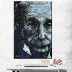 "24 in. x 36 in. ""Einstein - It's All Relative"" Printed Canvas Wall Art"