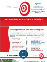 Amazing Adventure Treks Next to Bangalore>>Adventure trekking is one of the best ways to refresh the body and the mind. Given the diverse landscape of India, there are several destinations within the country where you can enjoy this thrilling activity.#AdventureTrips #Camping #Rappelling #RockClimbing #Trekking #365hops #Anthargange,