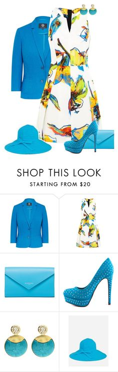 """""""Wear High Heels"""" by feelgood35 ❤ liked on Polyvore featuring Viyella, Milly, Balenciaga, Blink, Amrita Singh, San Diego Hat Co., Studs, teal and hattrend"""