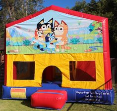 BOOK YOUR JUMPING CASTLE NOW!  From $150 Mon-Fri (ex. pub hol), $220 Sat-Sun  Actual size 4x3.1x3 Roof-Provides full sun protection Internal Slide Internal Obstacle course Internal Basketball Hoop Obstacle Course, Basketball Hoop, Sunshine Coast, Sun Protection, Castles, Book, Happy, Chateaus, Ser Feliz