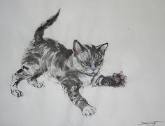 CUTE画「小さなハンター、ヴァシカという仔猫。」[N-EVA] | ART-Meter