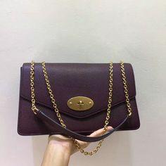 2017 Mulberry Large Darley Shoulder Bag Oxblood Grain Leather 36975603db10e