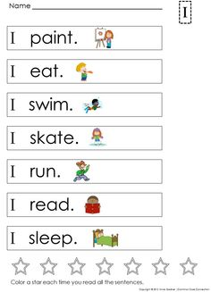 Very First Sight Word Sentences ~ The first page focuses on the word I and just one sight word is added on each page. Designed to help students build confidence while developing early literacy skills. ($)