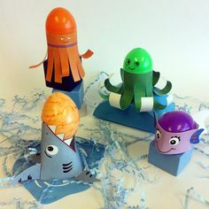 Free Easter Egg holders. Make a splash with Shark, Fish and Octopus Easter Egg Holders. http://www.pkolino.com/v/vspfiles/downloadables/news/freebies.pdf