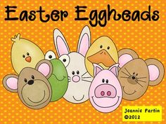 These super sweet animal eggheads are a perfect complement to classroom Easter festivities. Each Easter, I have an an egg hunt  for my class. I d...