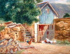 Edwardian Art Vintage Art OOAK Watercolor by BiminiCricket on Etsy Vintage Home Decor, Vintage Art, Vertigo, Mall, Watercolor, Gift Ideas, Group, House Styles, Amazing