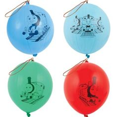 Latex Thomas the Tank Engine Punch Balloons 4ct $2