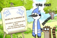 Regular Show Party -Printable Party Invitations Personalized by PartyTimePrintables,